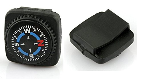 Type-III 4pc Liquid Filled Slip-on Compass Set for Watchband or Paracord Bracelets (2nd Gen)