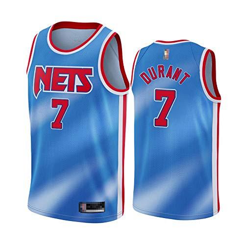 YDYL-LI Jersey De La NBA De Los Hombres Brooklyn Nets-Kevin Durant # 7 Jersey Transpirable Desgaste Resistente Al Baloncesto Uniforme Fitness Deporte Camiseta,Azul,M(170~175CM)