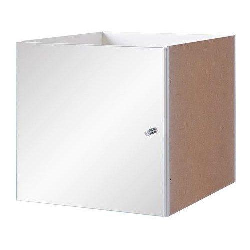 _ IKEA KALLAX Einsatz mit Spiegel; in weiß; (33x33cm)
