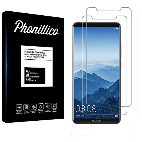 PHONILLICO [Pack de 2] Verre Trempe Huawei Mate 10 Pro - Film Protection Ecran Verre Trempe [Lot de 2] Vitre Ecran Protecteur Anti Rayure sans Bulle d'Air Dureté 9H Ultra Mince Transparent
