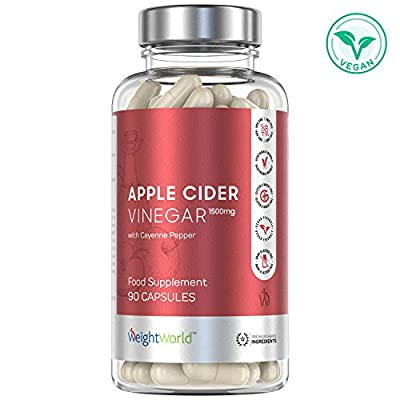 High Strength Apple Cider Vinegar Capsules - 1500mg Serving Tablets, Slimming Diet Pills, Heart Health, Weight Loss for Men and Women, 40 Day Supply, Vegan & Keto Fat Burner - 120 Liquid Capsules