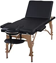 The Best Massage Table 3 Fold Black Reiki Portable Massage Table - PU Leather High Quality - by Heaven Massage