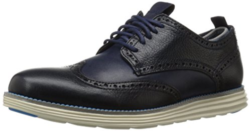 Cole Haan Men's Grand Wing Ox Novelty Sock P113905 Oxford, Marine Blue/Ultra Blue, 11 M US