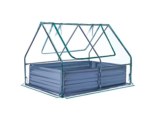 TOOCA Raised Garden Bed 47' ×35' ×36' Planter Box with Greenhouse Planter Garden Bed Kit 85.6 Gal Portable Sturdy Greenhouse for Plants/Veggies/Fruits/Herbs Outdoors with 2 Zipper Windows for Gardener