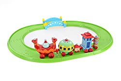 Based on the iconic Ninky Nonk Train from In the Night Garden Easy start/stop button - perfect for little hands. Fun Ninky Nonk sounds! Encourages imagination through pretend play Develops fine motor skills