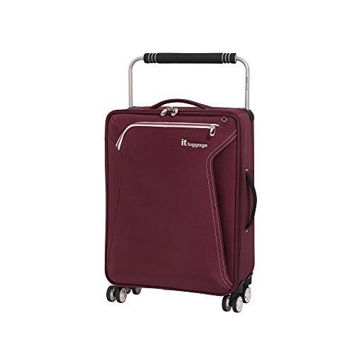 it luggage World'S Lightest Accent 8 Wheel Super Lightweight Suitcase Cabin Maleta, 59 cm, 36 Liters, Rojo (Lipsticks)