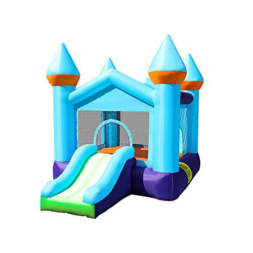 AIYIFU Castillo Hinchable Castillo Hinchable Bouncetastic con Tobogán para Niños Centro Juegos Hinchable para Parque Patio Jardín,