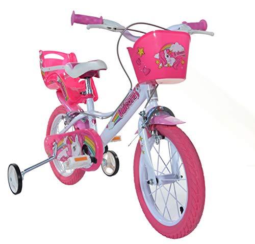Einhorn Kinderfahrrad Unicorn Mädchenfahrrad – 16 Zoll| Original | Kinderrad Mit Stützrädern, Puppensitz Und Fahrradkorb – Das Einhorn Fahrrad Als Geschenk Für Mädchen - 2