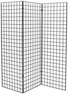 Grid #1900B (3PCS) + 1904B (6PCS) New Retails Black Finished Z Unit with Three 2' X 6' Panels