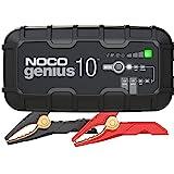NOCO GENIUS10EU, 10A cargador de batería automático inteligente portátil de 6V y 12V, mantenedor de batería y desulfador para moto, scooter, auto, camión y caravana