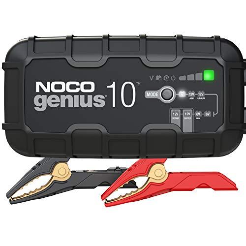 NOCO GENIUS10EU, 10A Vollautomatisches Intelligent Ladegerät, 6V und 12V Batterieladegerät, Erhaltungsladegerät, und Desulfator für Auto, Motorrad, KFZ, LKW, PKW, Boot, Roller, Wohnmobil und Wohnwagen