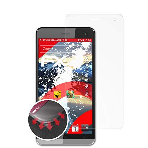 atFolix Schutzfolie kompatibel mit Haier Voyage G31 Folie, entspiegelnde & Flexible FX Bildschirmschutzfolie (3X)