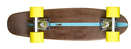 Ridge Erwachsene Maple Holz Mini Cruiser Number Two Skateboard, Gelb