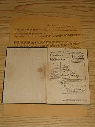 Sozialversicherungsausweis Reichenberg 1930