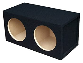 Absolute USA DSS10 Dual 10-Inch 3/4-Inch MDF Sealed Subwoofer Enclosure with Absolute USA Logo