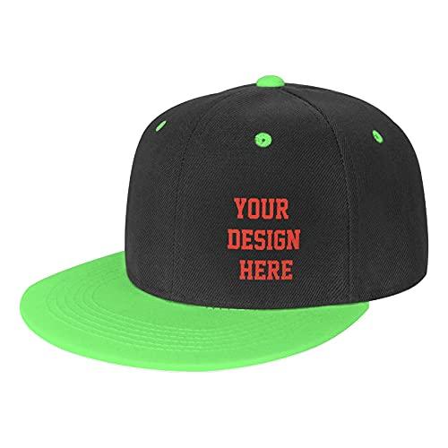 Gorra de béisbol plana ajustable unisex personalizada, gorra de béisbol ligera y transpirable para deportes al aire libre