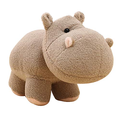 B-CREATOR Hippo Stuffed-Animals Hippopotamus Baby-Plush-Toy - (Gray, 8 inches) Cute Doll Cuddly Fluffy Plushies Figures Toys
