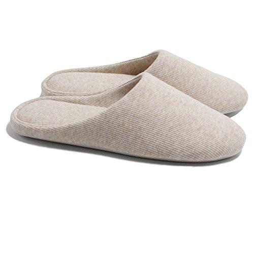 ofoot Zapatillas de casa para mujer, zapatos de casa antideslizantes de algodón lavable de espuma viscoelástica