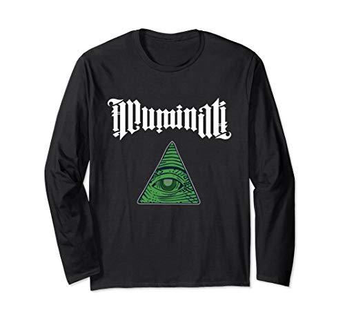 Illuminati |Allsehendes Auge | Verschwörungstheorie Design Langarmshirt