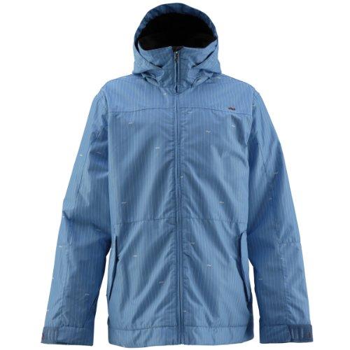 Foursquare Myers Jacket Print Longitude Bluebird L
