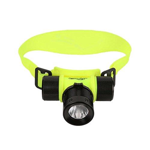winomo Lampe frontale LED étanche sous l'eau plongée phare pour Laufen Camping Jogging