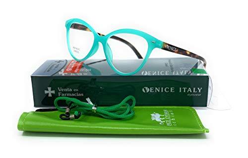Gafas de lectura presbicia Mujer Diseño en Colores: Verde, Rojo, Rosa, Negro. VENICE Zenny - Dioptrías: 1 a 3,5 (Verde, 1,00)