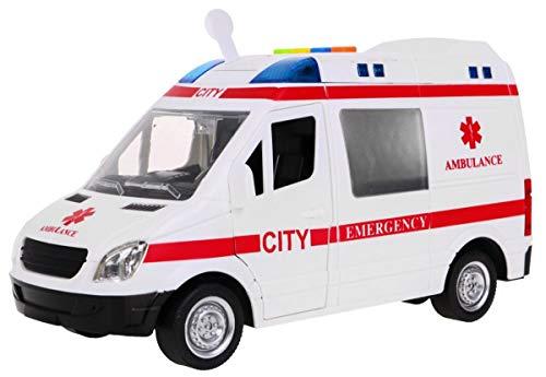BSD Coche de Emergencia de Juguete Ambulancia Interactivo 1:16 - Efectos de Luz y Sonido