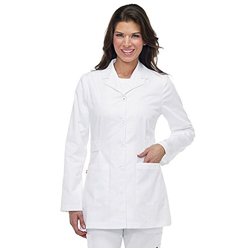 Orange Standard koi G3400 Women's Hampton Lab Coat White XS