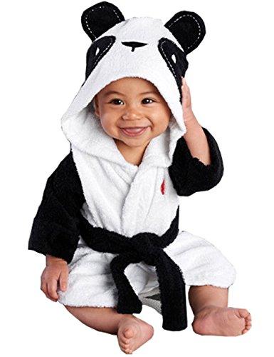 Meihuida Mädchen Jungen Baby & Fleece Bademantel Robe Super weicher Fleece Bademantel (6-12 Monate, Panda)