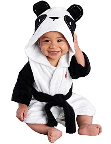 Meihuida Mädchen Jungen Baby & Fleece Bademantel Robe Super weicher Fleece Bademantel (6-12 Monate, Panda)