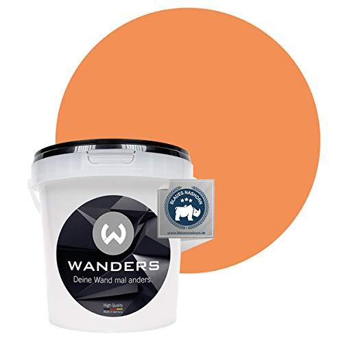 Wanders24® Tafelfarbe (1Liter, frische Aprikose) Blackboard Paint - Tafellack - abwischbare Wandfarbe - in 20 Farbtönen erhältlich - Made in Germany