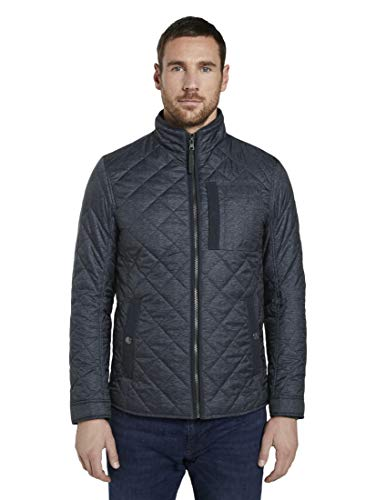 TOM TAILOR Herren Jacken & Jackets Gesteppte Jacke Blue Jacket Structure,XXL