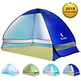 BATTOP Pop Up Beach Tent Sun Shelter Anti UV Beach Shelter for Outdoor Sets Up in Seconds 2-3 Person (Blue1)