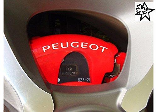 Peugeot Sport 4 x Bremsenaufkleber Bremsen Aufkleber Bremssattel Hitzebeständig DECALS STICKERS von myrockshirt ® estrellina Glücksstern