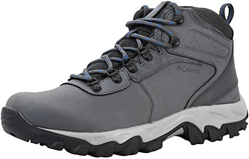 Columbia Men's Newton Ridge Plus II Waterproof, Chaussure de randonnée Homme, Graphite Bleu Roi, 43 EU