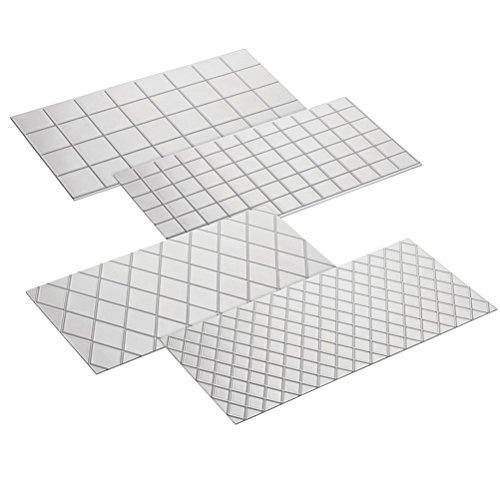 BESTOMZ 4tlg Prägematte Strukturmatte für Tortendeko 3D Spitze Effekt Fondant Klassisch Muster,Gittermuster