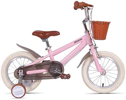 JHNEA Bicicleta Infantil Estudio Aprendizaje Montar a Caballo Bicicleta niños niñas Bicicleta con ruedines con Campana por 3-8 años, 14 16 18 Pulgadas,A_16'