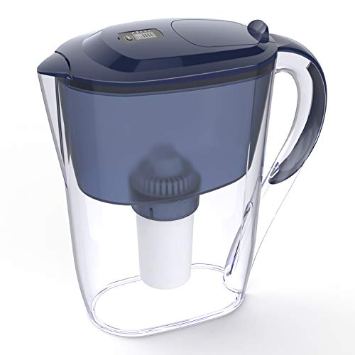 Simpure 10 Cup Water Filter Pitcher, Water Filter Jug Large with 4 Stage Filtration System, Remove Chlorine, Taste and Order, Lead, Fluoride and More for Home and Outdoor, 2.6L,BPA Free