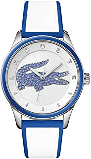Lacoste Women's White Dial Color Silicone Band Watch - 2000928