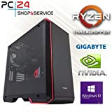 PC24 Gamer PC | AMD Ryzen THREADRIPPER 2950X mit 16x 3,50GHz | 500GB M.2 970 EVO SSD | nVidia GF RTX 2080Ti mit 11GB RAM | 32GB DDR4 PC2666 RAM G.Skill | Gigabyte X399 DESIGNARE EX | Windows 10 Pro
