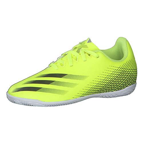 adidas X GHOSTED.4 IN J, Zapatillas de fútbol, Amasol/NEGBÁS/AZUREA, 30 EU