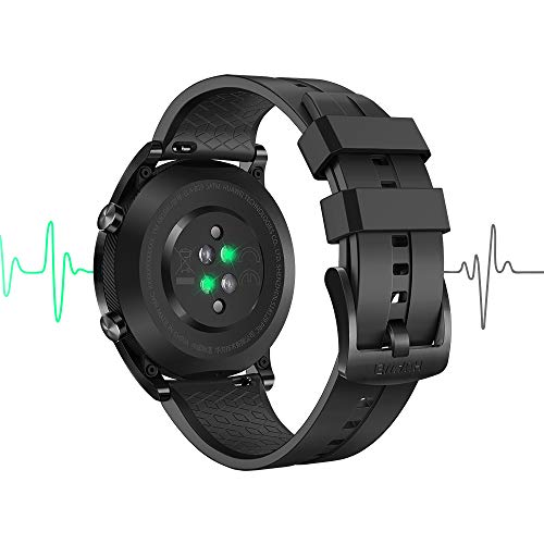 Huawei Watch GT Elegant Smartwatch (42 mm Amoled Touchscreen, GPS, Fitness Tracker, Herzfrequenzmessung, 5 ATM wasserdicht) Schwarz - 3
