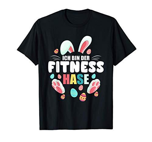 Ich bin der Fitness Hase Ostern Osterhase Familie Partner T-Shirt