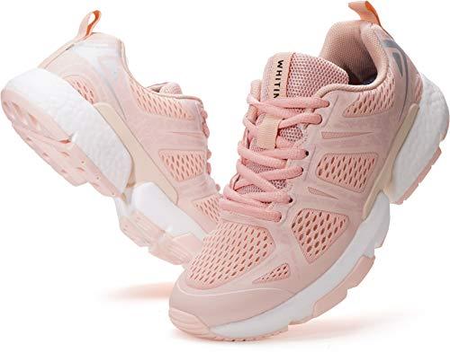 WHITIN Damen Laufschuhe Straßenlaufschuhe Traillaufschuhe Laufschuh Sportschuhe Turnschuhe für Frauen Mädchen Tracking Workout Schuhe Trainingsschuhe Zumba Sportschuhe Outdoorschuhe Rosa gr 42 EU