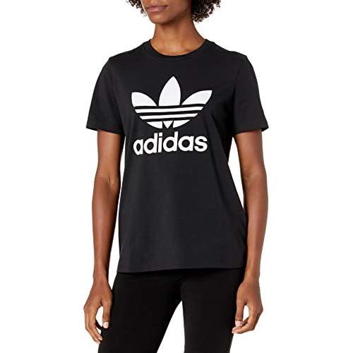 adidas Originals Women's Trefoil T-Shirt, Black/White, L