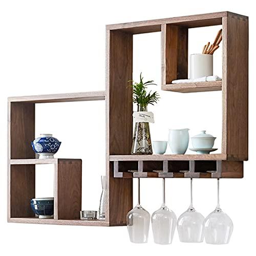 Cuelga de la pared del estante de vino, estante de copa al revés, estante de copa de vino, restaurante colgante nórdico estante simple
