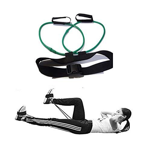Banda de resistencia de fitness, cinturón ajustable para ejercitar, cinturón de tensión de látex, entrenador de rebote de cuerda de tensión de pierna, para equipos de ejercicio muscular glúteo