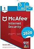 McAfee Internet Security 2020 | 1 Dispositivo| Abbonamento di 1 anno | PC/Mac/Smartphone/Tablet | Codice di attivazione via mail