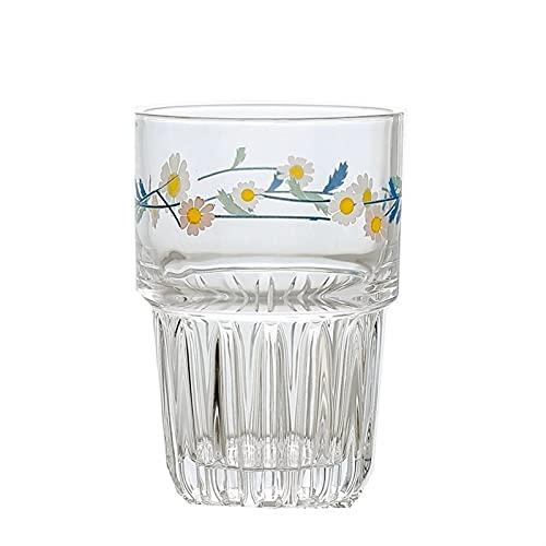 JYDZSW Taza de Agua 258 / 350ml, Taza de Cristal Creativo, Taza de té, Leche, Jugo de limón, Bebida para el hogar, Latte (Couleur : White High Cup)