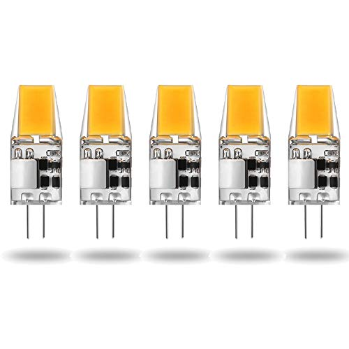 ALASON G4 LED 5W (50W Halogenäquivalentlampe) Warmweiß 2700K, AC/DC 12V, 5er Pack